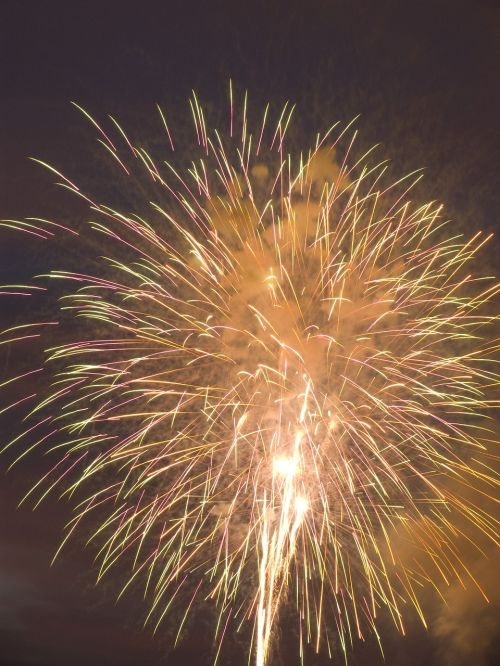 pyrotechnics night bright