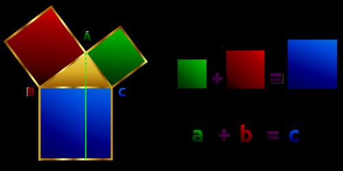pythagoras rectangular perpenticular