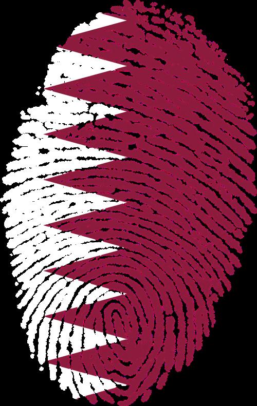 qatar flag fingerprint