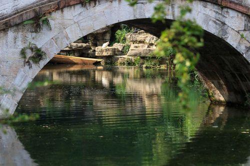 qiangling shan park the scenery bridge