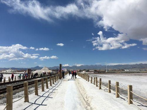 qinghai salt lake caka salt lake