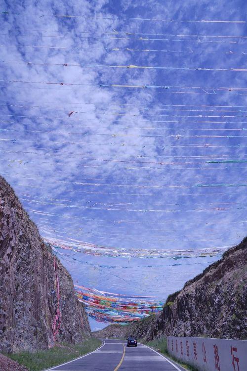 qinghai prayer flags pilgrimage