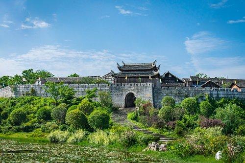 qingyan ancient town  guiyang  huaxi qingyan ancient town