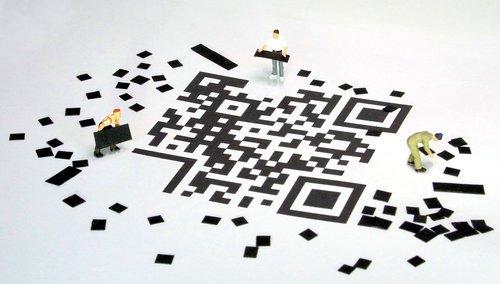 qr code  barcode  miniature figures