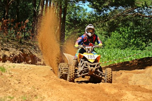 quad motorcycle sport motocross