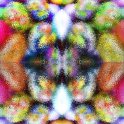Quad Egg Kaleidoscope Background