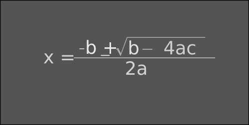 quadratic formula abc-formula
