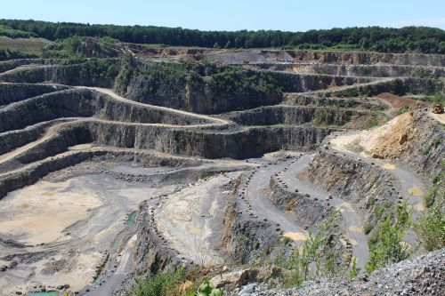 quarry open pit mining removal