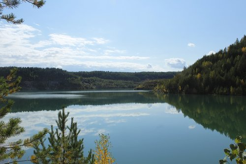quarry  lake  the nature of the urals