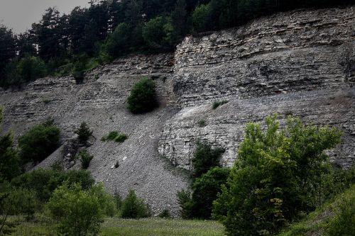 quarry scree nature