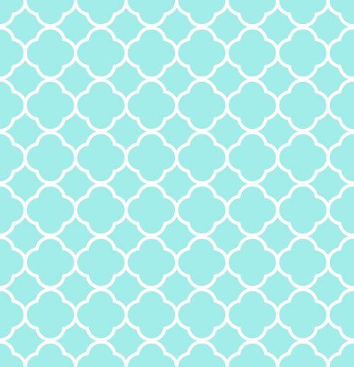 quatrefoil pattern blue
