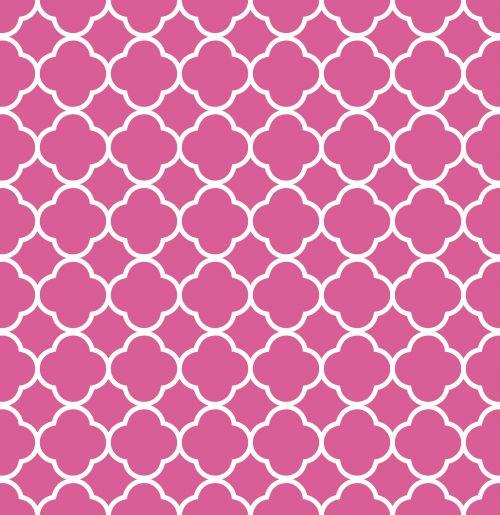 Quatrefoil Pattern Background Pink