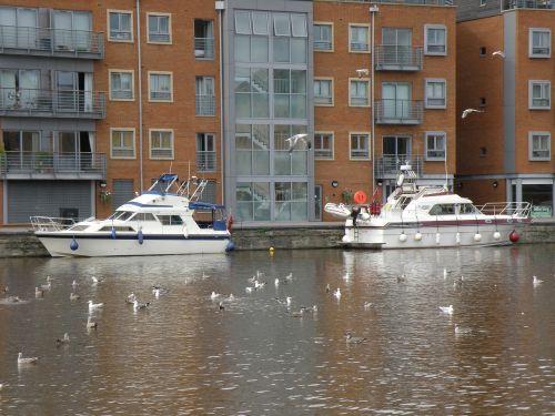 quay river boats