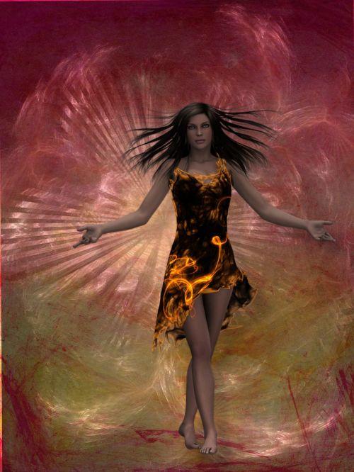 queen fire woman