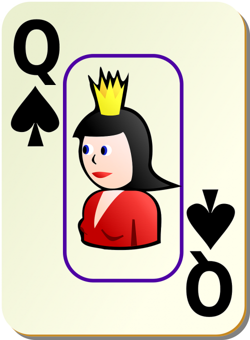 queen spades card