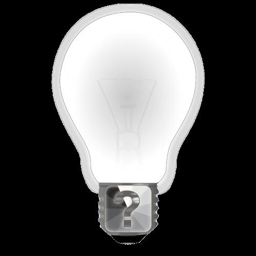 question bulb idea