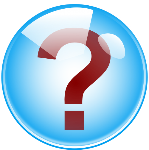 question mark faq answer