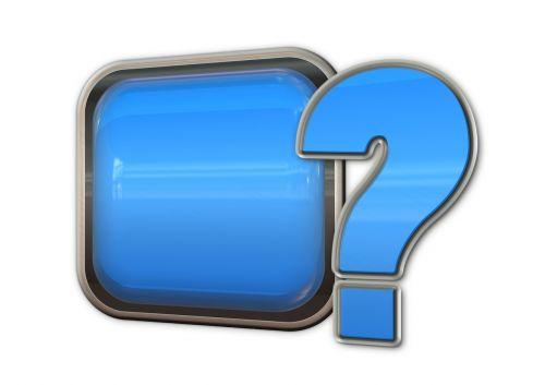 question mark problem button