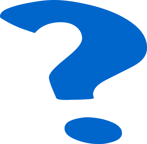 question mark punctuation symbol