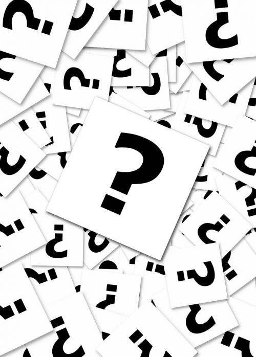question mark questions request