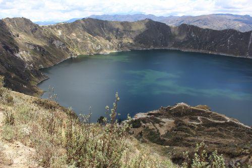 quilotoa,laguna,vulkanas,krateris,laguna verde,ecuador,turkis,turkio marios,kraštovaizdis,žygiai