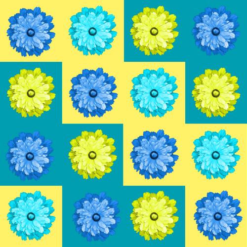 quilt flowers blue