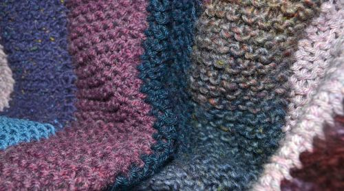 quilt yarn knitted