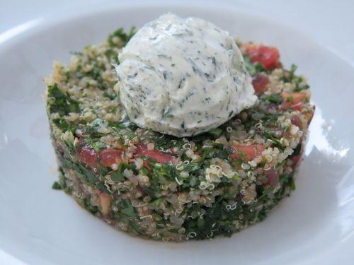 quinoa cream cheese salad
