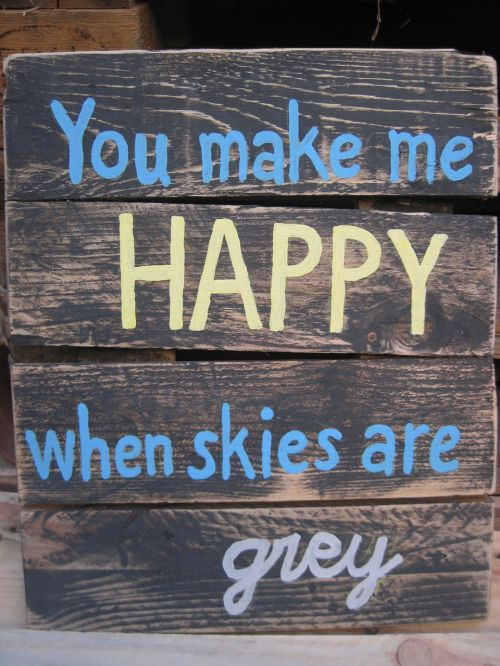 quote you make me happy skies are grey