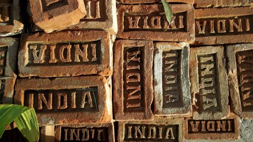 Indija, plyta, Ladrillo, statyba, medžiaga, asija, Indija plytos