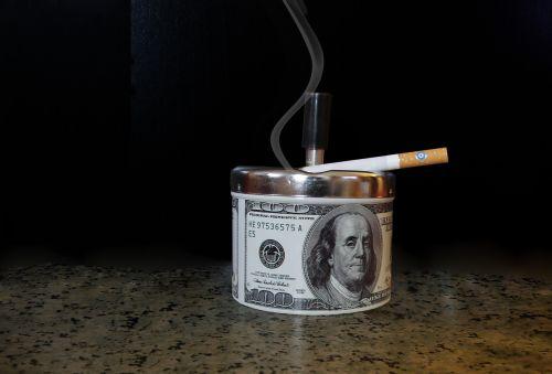 ashtray smoke cigarette