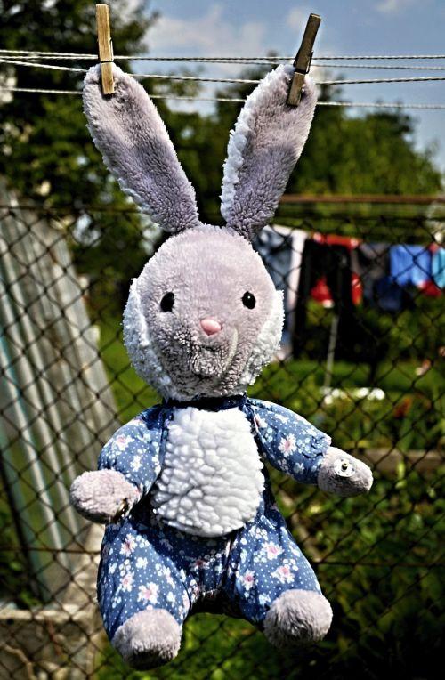 rabbit toy hanging