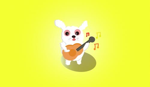 rabbit cute sing
