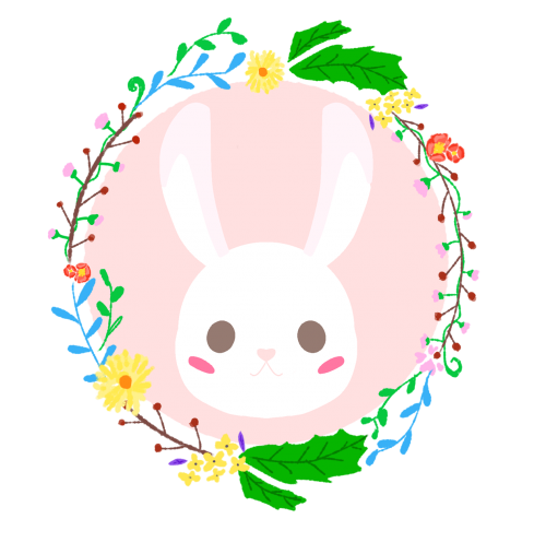 triušis,vainikas,korola,mielas,pavasaris,gėlės,rožinis,gėlių