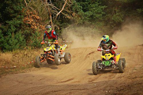 lenktynės,motokroso,quad,Quad race,ATV,motokroso važiavimas,lenktynės,enduro,motociklas,kirsti,smėlis,motorsportas,visureigė transporto priemonė,motociklų sportas