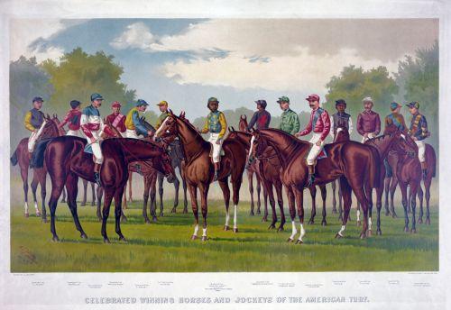 Race Horses Vintage Poster