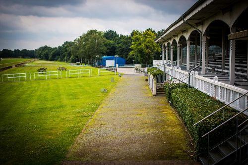 racecourse grandstand horse racing