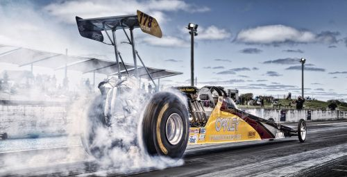 racing burnout drag