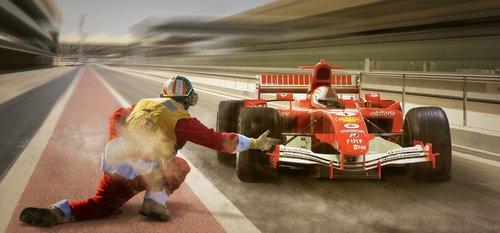 racing  formula 1  pit lane