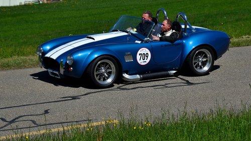 racing car  hillclimb  ac cobra 427 shelby f5r