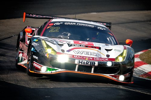 racing car  curve  motorsport