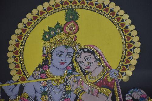 radha-krishna scenery handicraft