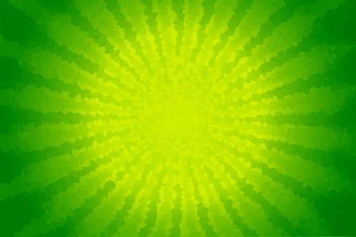 radial green crystals