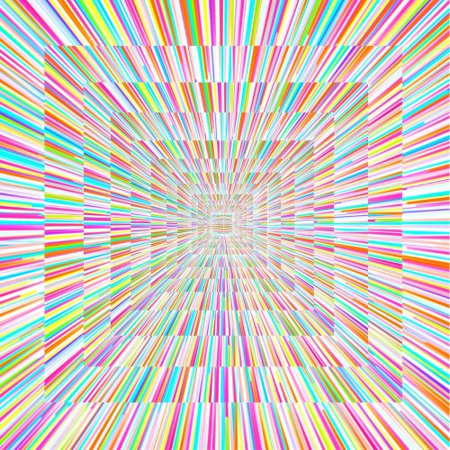 radiating lines dimension