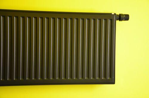 radiator heating green wall