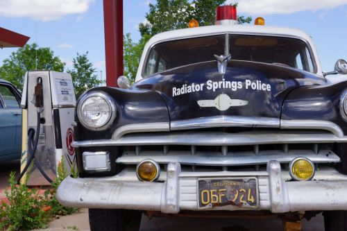 radiator springs usa police car