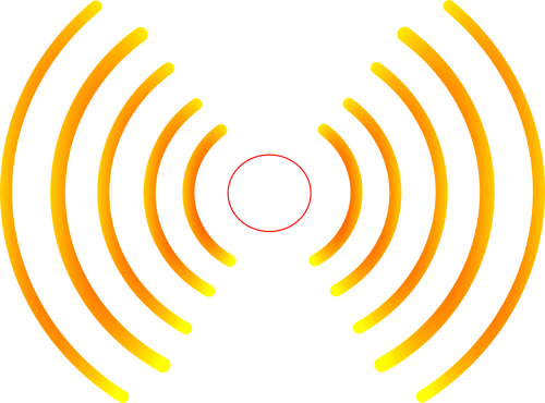 radio waves yellow