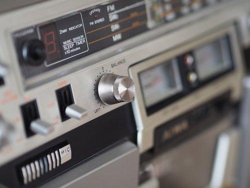 radio  cassette recorder  close up