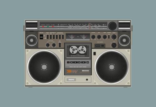 radio cassette  speaker  sound
