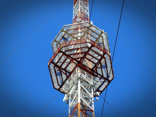 radio mast transmission tower platform